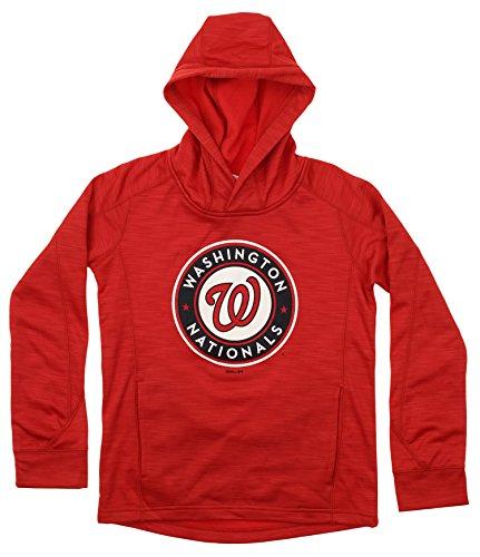 OuterStuff MLB Youth's Performance Fleece Primary Logo Hoodie, Washington Nationals Medium (Primary Logo)