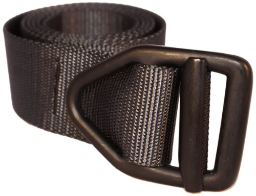 Bison Designs 38mm wide Light Duty Last Chance Belt with Black Buckle (Graphite, 38-Inch Maximum Waist/Medium) Gras Buckles