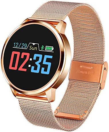 Fitness watches for women, TechCode Sport Watch with Heart Rate Monitor Pedometer Activity Tracker Color Screen Female Physiological Reminder Watch Step Counter Fitness Watch for iOS Android (Gold)