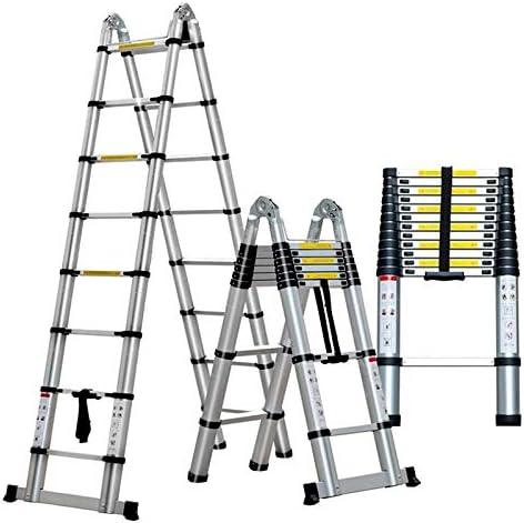 2.2M 14,44 pies telescópica Escalera plegable multifuncional de aleación de aluminio retráctil Escalera de aleación de aluminio grueso escalera plegable Inicio Multi-Función de elevación de ingeniería: Amazon.es: Hogar