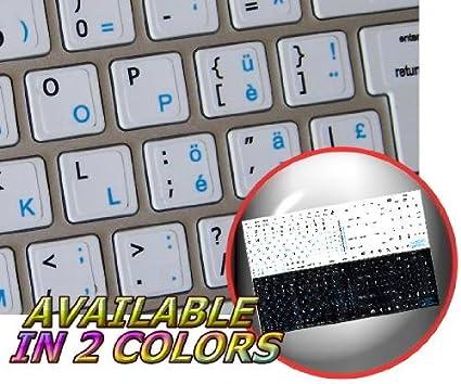 49151b27a9c2 Amazon.com: MAC ENGLISH-SWISS GERMAN KEYBOARD STICKERS ON WHITE ...