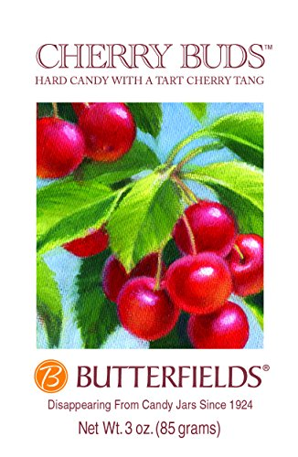 Butterfields Cherry Buds Hard Candy (Pack of 3) ()
