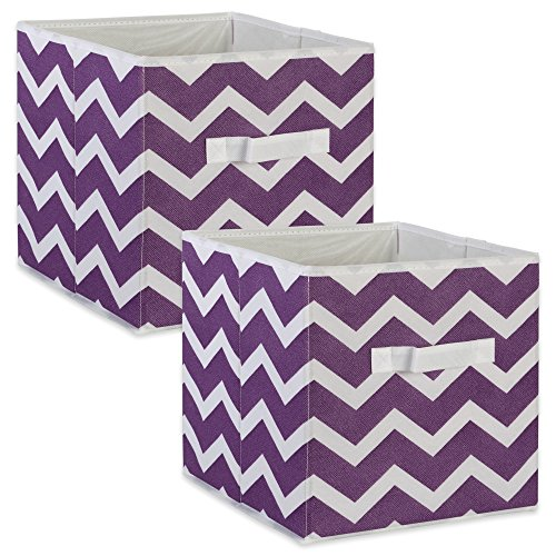 Storage Eggplant (DII Fabric Storage Bins for Nursery, Offices, & Home Organization, Containers Are Made To Fit Standard Cube Organizers (11x11x11