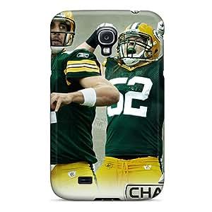 Samsung Galaxy S4 RnT5082CcqL Custom Trendy Green Bay Packers Pictures Shockproof Hard Phone Case -AlissaDubois
