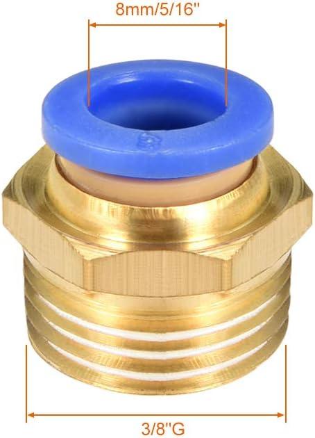 10 St/ück G 1//4 Zoll m/ännlich x 10 mm Rohrau/ßen sourcing map Gerade pneumatische Druck-zu-Schnellverbindungs-Armaturen