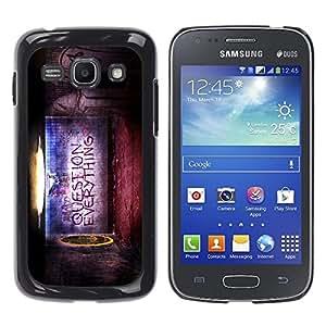 YiPhone /// Prima de resorte delgada de la cubierta del caso de Shell Armor - Question Everything - Samsung Galaxy Ace 3 GT-S7270 GT-S7275 GT-S7272