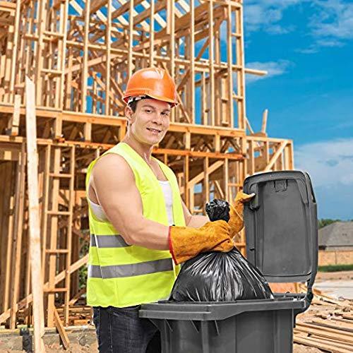 Trash Bags 40-45 Gallon 40W x 46H 100//Count Large Black Garbage Bags 40W x 46H
