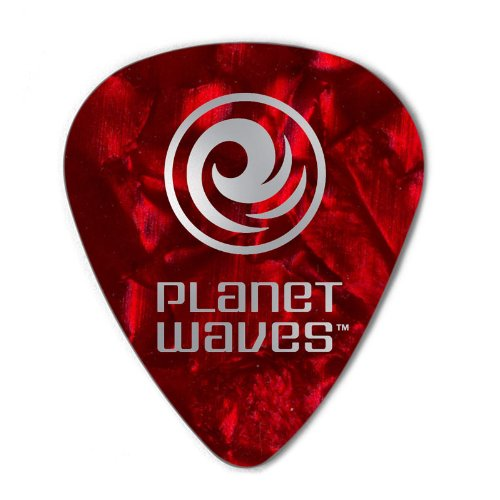 Planet Waves Red Pearl Celluloid Guitar Picks, 100 pack, ()