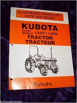 Kubota L3450 3650 Tractor Oem Parts Manual Kubota L3450 3650