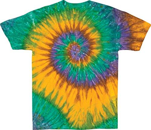 - Nola Earthtone Circular Faded Ripple Unisex Adult Tie Dye T-Shirt Tee