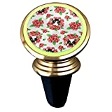 BLUESSKY Tuxedo Cat and Roses Magnetic Car Mount Luminous Universal Air Vent Cell Phone Holder Compatible with All iPhone, GPS, Smartphone, RV, Truck (360 Degree Rotation)