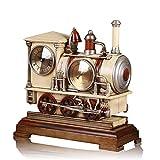 BWLZSP 1PCS European pendulum locomotive table clock antique art seat clock mute clock fashion clock Lu606151 (Color : White)