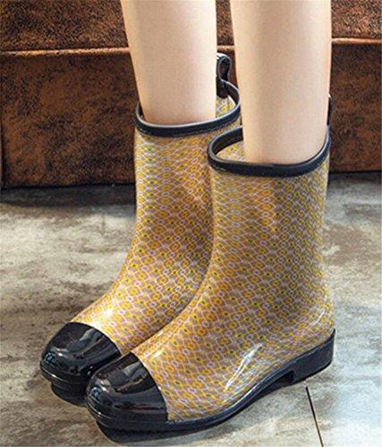 Adult Womens Antiskid Rubber Shoes Rain Boots C r5K3lT4s5