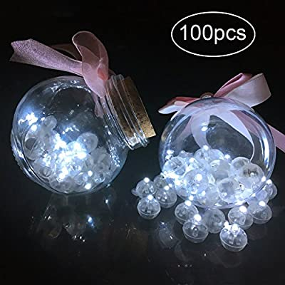 Gym Heroes 100pcs Water Proof LED Balloon Light,Round Led Flash Ball Lamp for Paper Lantern Balloon Birthday Party Wedding Decoration