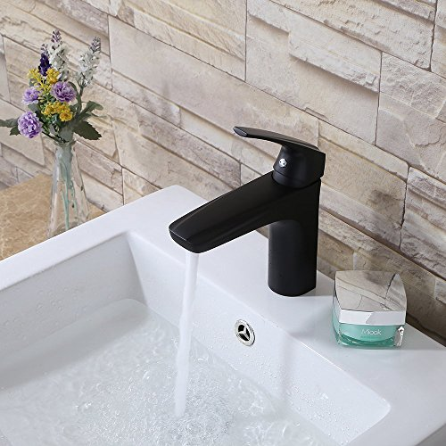 Lavatory Faucet, Dakan Bathroom Lavatory Vanity Vessel Sink Faucet with Single Lever Handle Deck Mounted Cool Car Style Matte Black