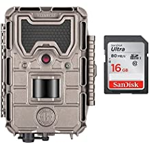 Bushnell 20MP Trophy Cam HD Aggressor No-Glow Trail Camera, Records 1080p Video, Bundle with 16GB Memory Card
