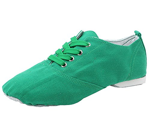 Boots Suede Canvas Sole up Womens Green missfiona Lace Modern Shoes Jazz Classic Dance 0xwfYSS6