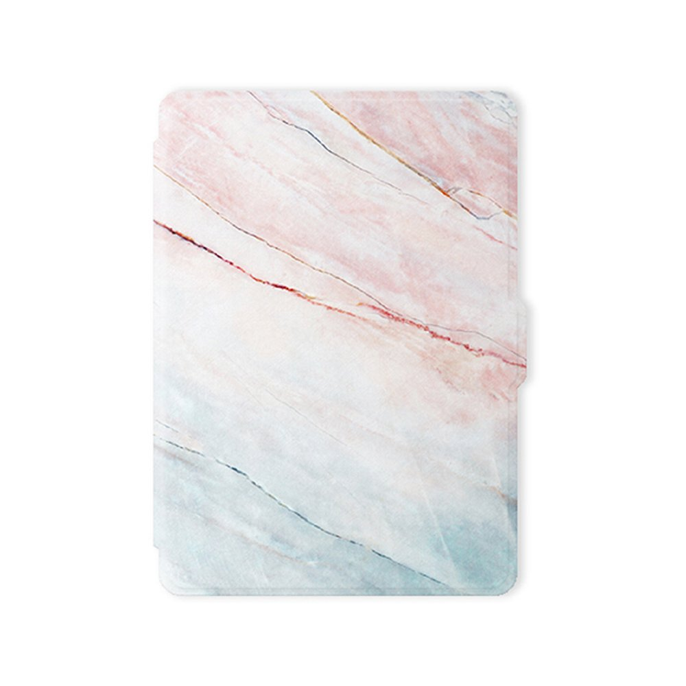 Leminimo Slim Fit Smart Marble Case for Kindle Paperwhite with Auto Sleep/Wake for All-New Amazon Kindle Paperwhite (Fits 2012, 2013, 2015, 2016 Versions with Built-in Light) (Pink Marble) by leminimo