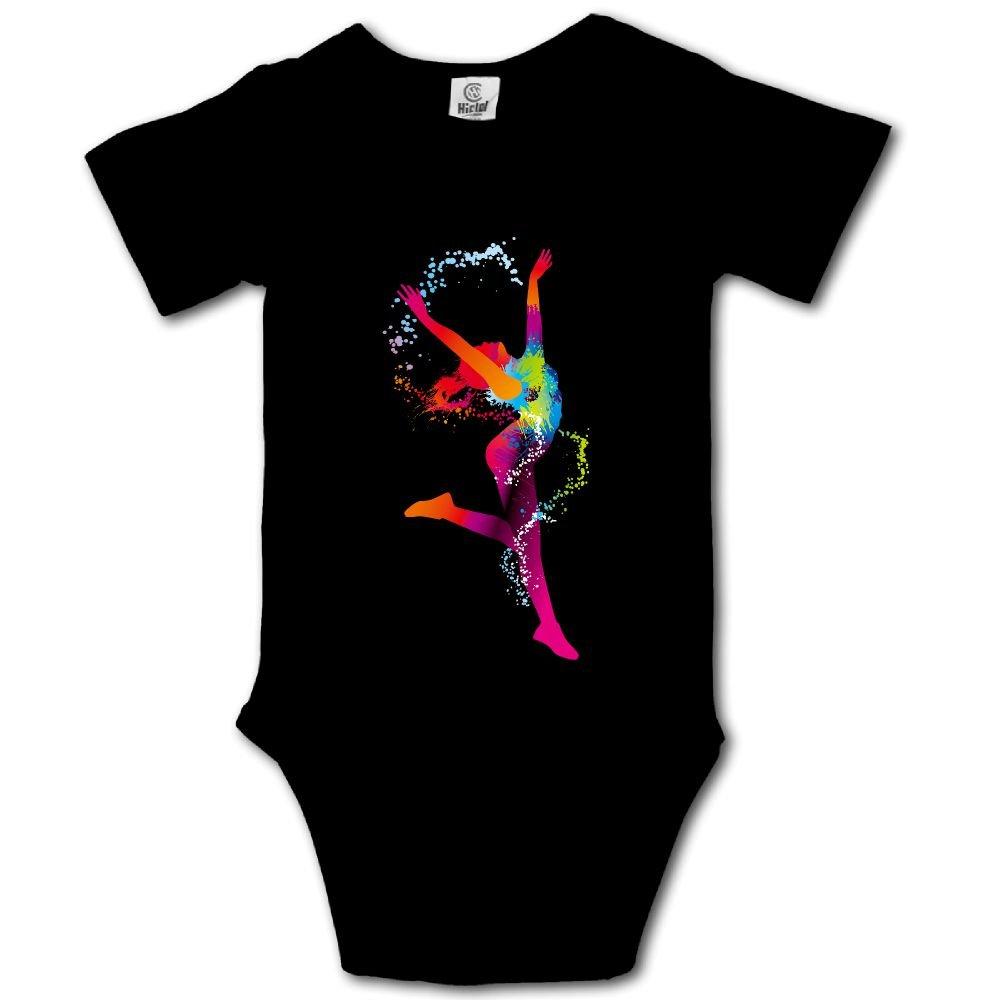 Baby Toddler Climbing Bodysuit Happy Dance Infant Climbing Short-Sleeve Onesie Jumpsuit