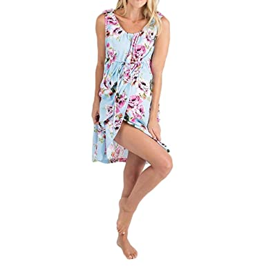 1106c981c7 FULA-bao 3 in 1 Maternity Labor Delivery Hospital Gown Nightgown Floral  Print Nursing Breastfeeding
