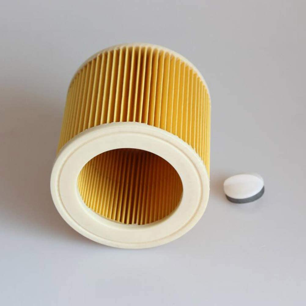 DishyKooker Home Cylindrical Filter Element for Kar-Cher A2004 A2054 WD2.250 Vacuum Cleaner Accessories Convenient Items