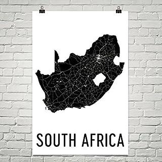 Carte Moderne Art de l'Afrique du Sud d'Afrique du Sud de l'Afrique South African Modern Map Art