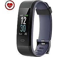YAMAY Fitness Tracker Orologio Cardiofrequenzimetro da Polso Smartwatch Donna Uomo Impermeabile IP68 Schermo a Colori Braccialetto Fitness Smart Watch Activity Tracker Pedometro per Android iOS