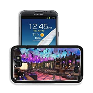 Architecture Design Bar Lighting Night Light Blue Samsung Galaxy Note 2 Snap Cover Premium Aluminium Design Back Plate Case Customized Made to Order Support Ready 6 inch (152mm) x 3 2/8 inch (82mm) x 4/8 inch (13mm) MSD Galaxy Note 2 Professional Metal Ca