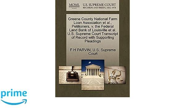 Greene County National Farm Loan Association et al