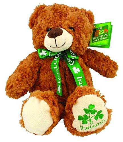 Ireland Shamrock Bear with Green Ribbon - Large Soft Toy