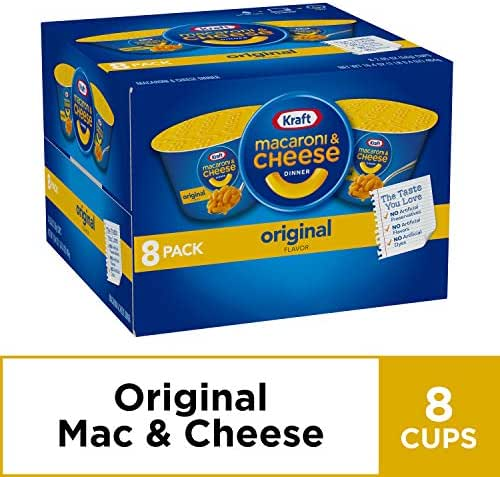 Kraft Easy Mac & Cheese Dinner Cups (2.05 oz Cups Pack of 8)