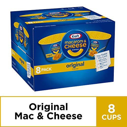 Kraft Easy Mac & Cheese Dinner Cups (2.05 oz Cups Pack of 8) (Homemade Mac And Cheese With Cheddar Cheese Soup)