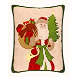 16x20 Inches Quilted Christmas Pillow, Santa's Gifts