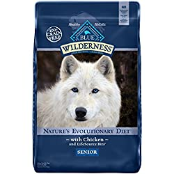 BLUE Wilderness Senior Grain-Free Chicken Dry Dog Food 24-lb