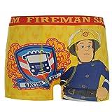 Character Kids Boys Fireman Sam Single Boxer Shorts Printed Underwear Infant Yellow 5-6 yrs