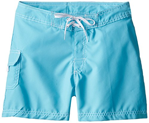Kanu Surf Big Girls' Sassy Boardshort, Aqua, Medium (8/10)