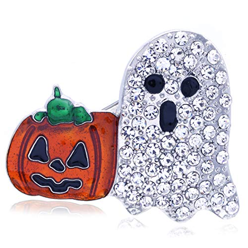 Soulbreezecollection Halloween Party Event Jack O Lantern Spooky Ghost Pumpkin Brooch Pin Costume Charm