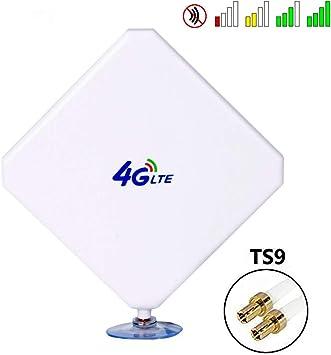 Antena TS9 4G LTE, 35dBi GSM de alta ganancia, antena dual Mimo WiFi amplificador de señal módem adaptador de antena de red de largo alcance con cable ...