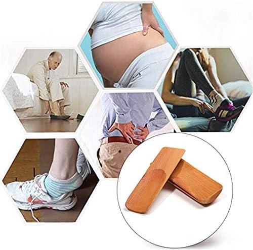 軽量 ポータブルトラベルショート取扱木製靴べらのためにキッズ、ブーツ&シューズすべて 耐用 (Color : Wood, Size : 12*3.8cm)