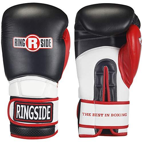 Ringside Pro Style IMF Tech Training Gloves, Elastic (Black, 16-Ounce)