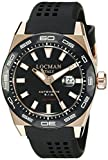 Locman Italy Men's 0215V5-RKBK5NS2K Stealth 300 Metri Analog Display Automatic Self Wind Black Watch