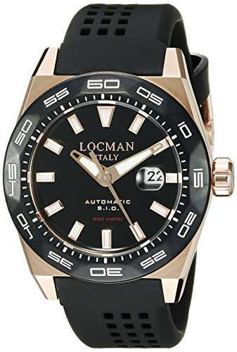 Locman Italy Men's 0215V5-RKBK5NS2K Stealth 300 Metri Analog Display Automatic Self Wind Black Watch by Locman Italy