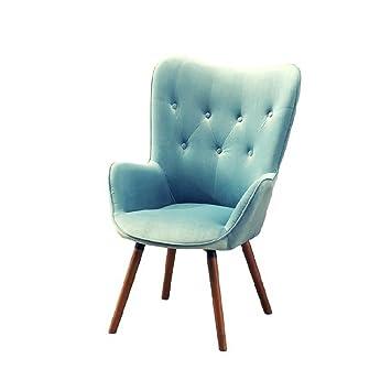 Amazon.com: Tela sillón silla de terciopelo detalle de botón ...