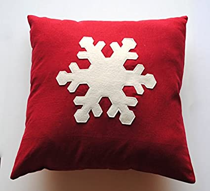 one snowflake christmas pillow cover 20x20 holiday pillow decorative pillow cushion