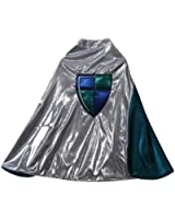 Silver & Turquoise Reversible Knight Cape