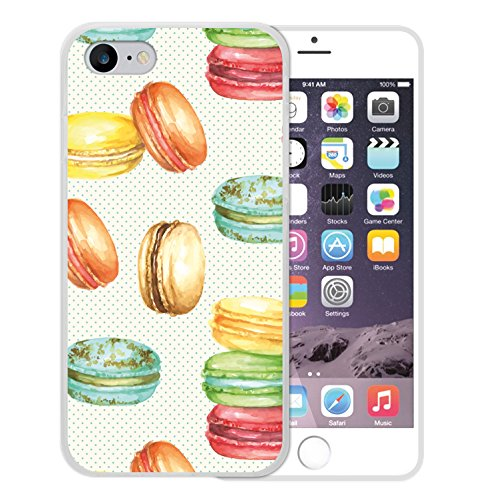 iPhone 8 Hülle, WoowCase Handyhülle Silikon für [ iPhone 8 ] Aquarell Makronen Handytasche Handy Cover Case Schutzhülle Flexible TPU - Transparent