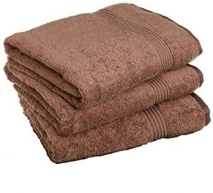 Luxury 3PC 100% Egyptian Cotton Bath Towel Set, MOCHA