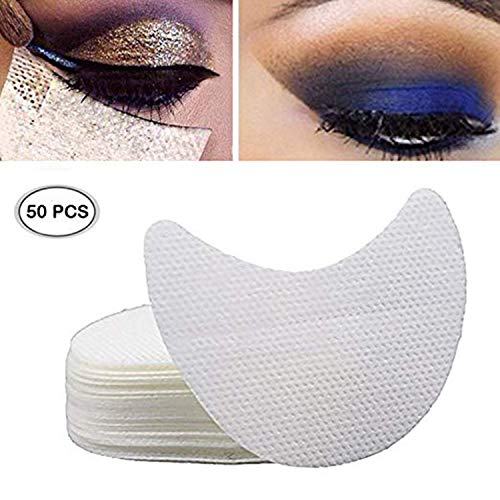(Ochioly 50 Pieces Eyeshadow Shield Under Pad Eyelash Extensions Patch Multifunction Beauty Eye Lip Make Up Tools)