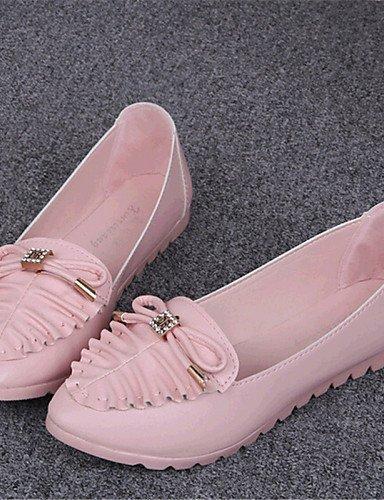 ZQ YYZ Zapatos de mujer-Tac¨®n Plano-Comfort-Planos-Exterior / Casual-Semicuero-Azul / Rosa / Blanco , pink-us8 / eu39 / uk6 / cn39 , pink-us8 / eu39 / uk6 / cn39 white-us7.5 / eu38 / uk5.5 / cn38