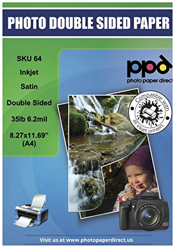 PPD Inkjet Satin Luster Double Sided Brochure Paper A4 (8.27x11.69